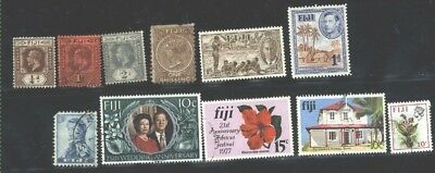 Fiji 11 different Mint & Used stamps