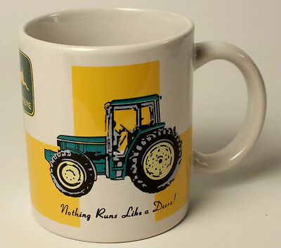 John Deere Mug Tractor Green Yellow Coffee Cup Excellent Condition