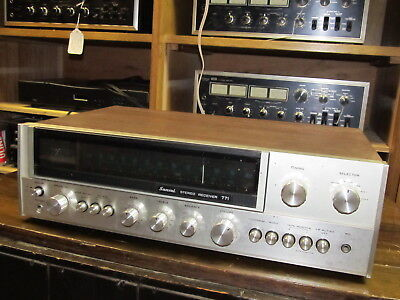 VINTAGE SANSUI 771 Stereo Receiver, NOT WORKING, FOR PARTS OR REPAIR