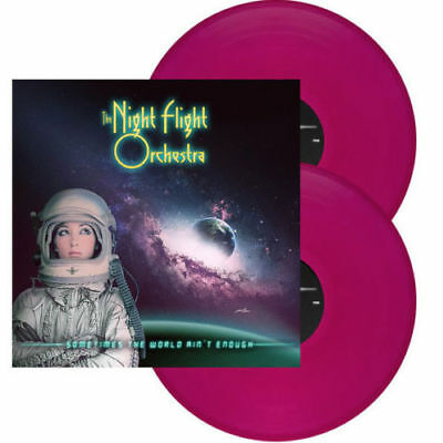 NIGHT FLIGHT ORCHESTRA - Sometimes The World Ain't Enough - 2-LP Violet Neu New