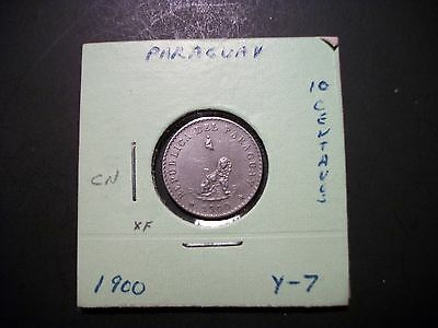 Paraguay 1900 10 Centavos coin