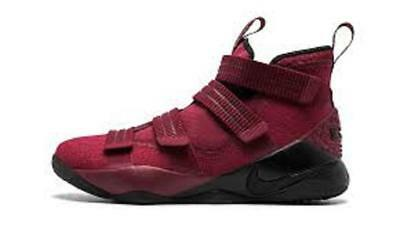 2990462392d New Nike Lebron James Soldier XI SFG Team Red Black Shoes sz 10.5  140