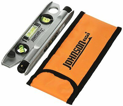 Johnson 40-6164 7-1/2-Inch Magnetic Torpedo Laser Level With Softsided Padded Ca