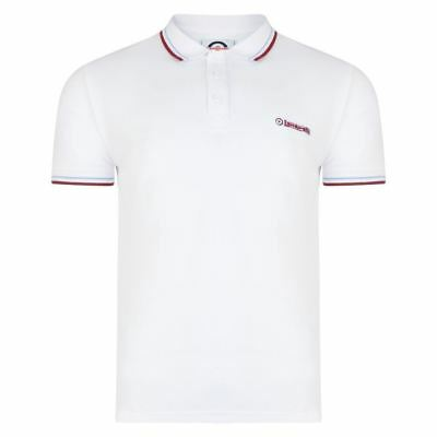LAMBRETTA Mens Twin tipped Polo White (SS1608)