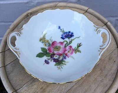 Continental Porcelain AK Kaiser Germany Floral Two Handled Dish Bowl