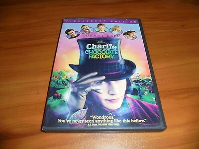Charlie and the Chocolate Factory (DVD, 2005, Widescreen) Johnny Depp Used