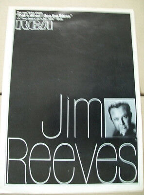Jim Reeves 1968 Ad- That's When I See The Blues/I've Lived A Lot In My Time RCA