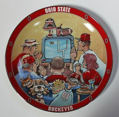 Danbury Mint OHIO STATE PRAYER Gary Patterson Porcelain Collector Plate BUCKEYES