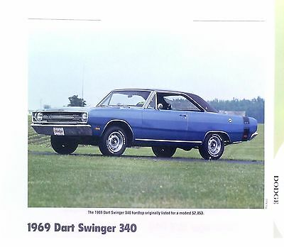 1969 Dodge Dart Swinger 340 ci Info/Specs/photo/price production numbers 11x8