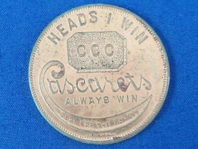 "Vtg ""Always Win CASCARETS"" CCC ""Best For Bowels"" Heads I Win Tails You Lose A402"