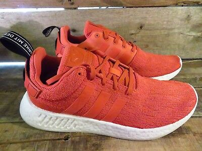 Adidas NMD R2 Boost Mens Shoe Size 11 NEW BY9915 Harvest Orange Running