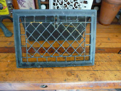 Vintage Metal Black Heat Register Vent Cover