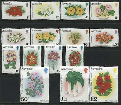 Ascension 1981 Flower definitive set complete to £2 unmounted mint NH
