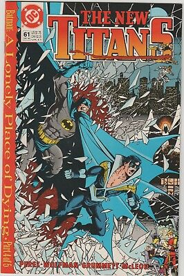 New Teen Titans (2nd Series) New Titans #61 1989 VF A LONELY PLACE OF DYING 4/5