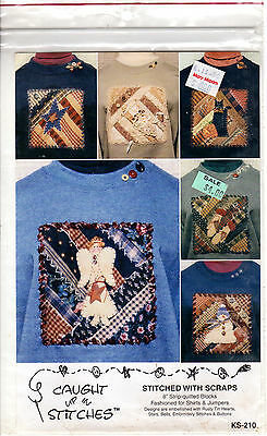 """UNCUT Caught up in Stitches Sewing Craft Pattern KS-210 """"Stitched With Scraps"""""""