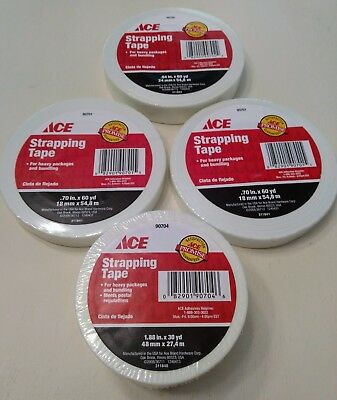 One Roll Ace Hardware Fiberglass Strapping Tape - Various Sizes - Sealed!