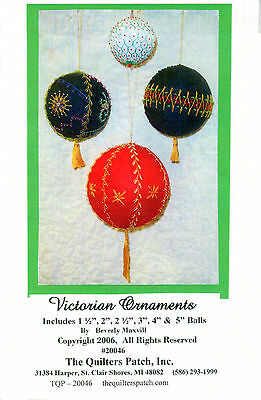 "Quilters Patch Piecing/Embroidery/Beading Pattern TQP-20046 ""Victorian Ornaments"