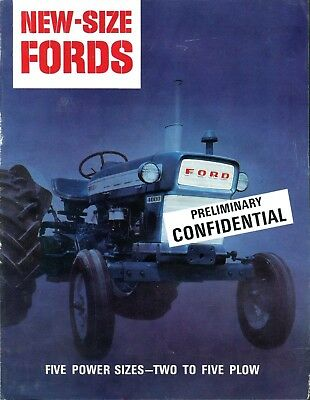 Vintage 1960's Ford Tractor 2000 3000 4000 5000 Advertising Brochure * Catalog