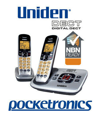 Uniden DECT 3135+1 Twin Cordless Phone 2 Handsets HANDSFREE No Power ok NEW