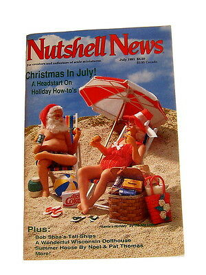 #7875 July 1991 Nutshell News Miniatures Magazine For Creators And Collectors
