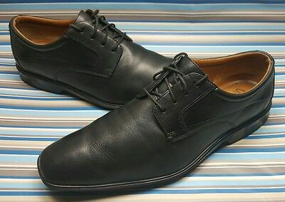 8b2f7adbc30af Clarks Flexlight Oxfords Casual Dress Black Leather Lace Up Men Shoes 8.5 M