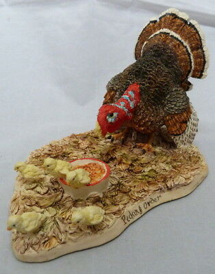1994 Lowell Davis Pecking Order Turkey Chicks Ltd Edition Schmid Figurine 41/750
