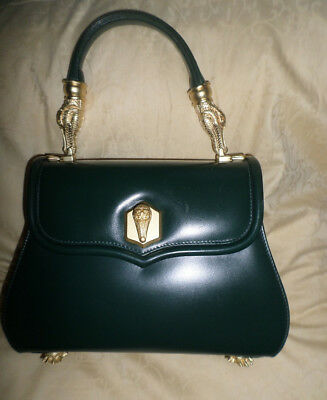 c7604e41e879 ICONIC COLLECTIBLE Barry Kieselstein Cord Alligator TROPHY green leather Bag