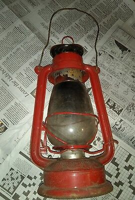 Antique Chinese red KWANG HWA Paraffin Lantern Shanghai old vintage