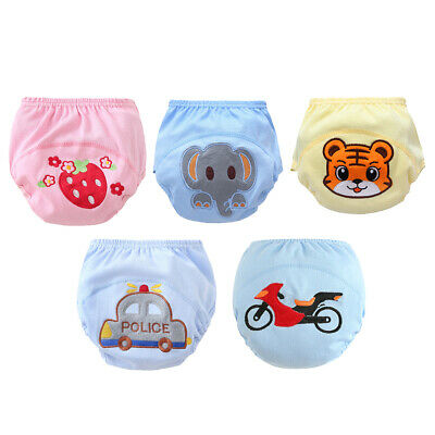Baby Boys Girls Washable Toilet Training Pants Nappy Underwear Cloth Diaper