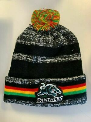 Penrith Panthers NRL Dynamo Knitted Winter Beanie with Pom Pom!
