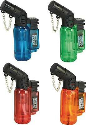 Two (2) Butane Mini-Torch Turbo Flame, Lighters, Camping,Hunt,Crafts, Refillable