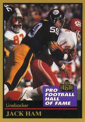 85bcf96d07c JACK HAM 1991 NFL Pro Football Hall of Fame Card Enor #56 Mint FREE SHIPPING