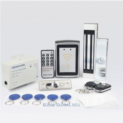 Remote Controlled RFID Door Lock Access Control System With 180kg Magnetic Lock