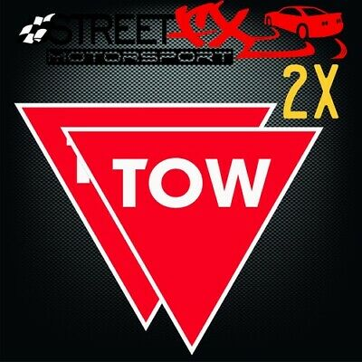 CAMS Tow Rally Drift Race Car Sticker Decals Twin Pack