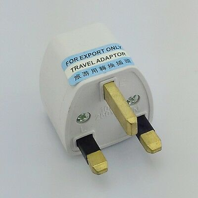 US AU DE Universal to UK AC Adapter Power Plug 250V 10A Outlet Converter Socket