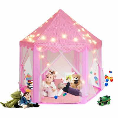 2018 Hot Princess House Castle Girls Playhouse Kids In/Outdoor Fairy Play Tent