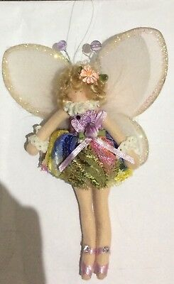 Fabric Hanging Ballerina Fairy Doll approx 18cm in length