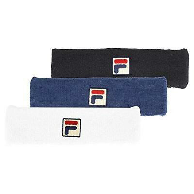 New Fila Clasic Solid Headband Sweat Band Tennis Retro Vintage Style FL106 82a3c661617