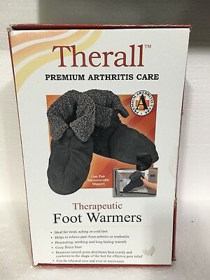 THERALL Therapeutic Foot Warmers-Premium Arthritis Care-NEW!-Size Lrg-$56 Ret