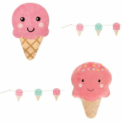 Pink Happy Ice Cream Cushion Bunting Children Kids Baby Bedroom Nursery
