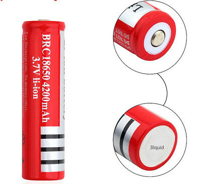 1 x Ultrafire 18650 4200 3.7V Rechargeable Li-ion Battery for Flashlight torch