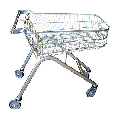 Set of 4 - Supermarket Shopping Trolley Cart Wire 70L Shallow NEW Warehouse