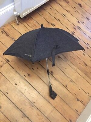 Mamas And Papas Denim Sun Umbrella Parasol Navy Urbo Sola Zoom Sola 2 Mtx