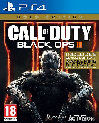 Call Of Duty: Black Ops III - Gold Edition (PS4) Nuovo e Sigillato -