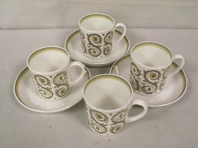 Vintage Susie Cooper 1960's Venetia 4 Coffee Cups And 3 Saucers   (Fe)