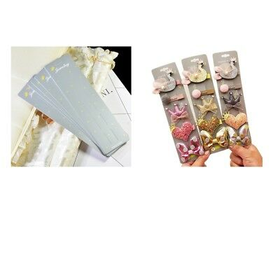 Jewellery Display Cards, Hair Clip/Hair Band/ Packaging Cards 10pcs Lengthen