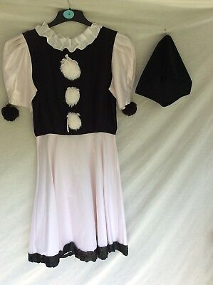 Quality Pierrot Mime Costume Ideal For Stage, Theatre, Panto, Fancy Dress Etc.