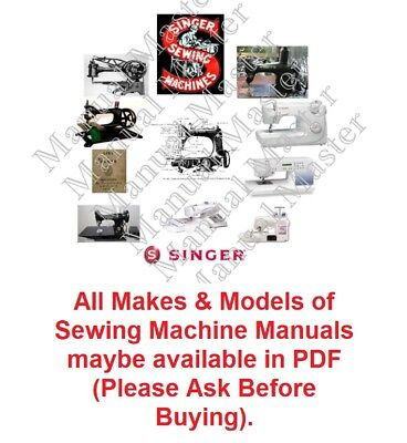 SINGER Sewing Machine Instruction Manual / Parts Lists / Service Manual in PDF