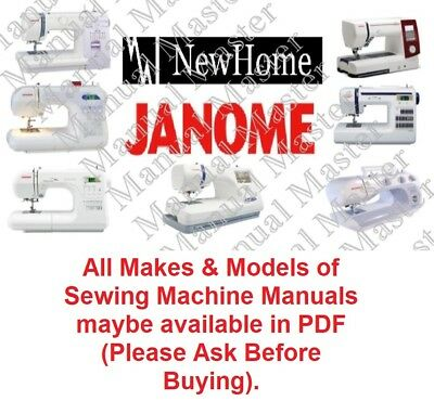 JANOME NEW HOME Sewing Machine Instruction/Parts Lists /Service Manual in PDF