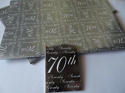 70th Birthday Gift Wrap2 Sheet 1 Tag